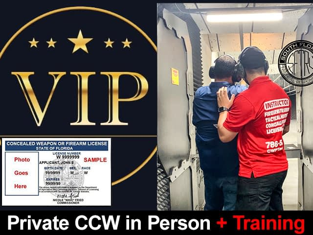 Private Florida Concealed Weapons Training
